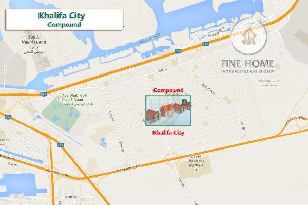 4 Villas Compound In Khalifa City (Co_309)