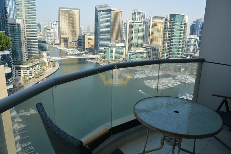 2 Bed + Laundry Full Marina View The Point Tower