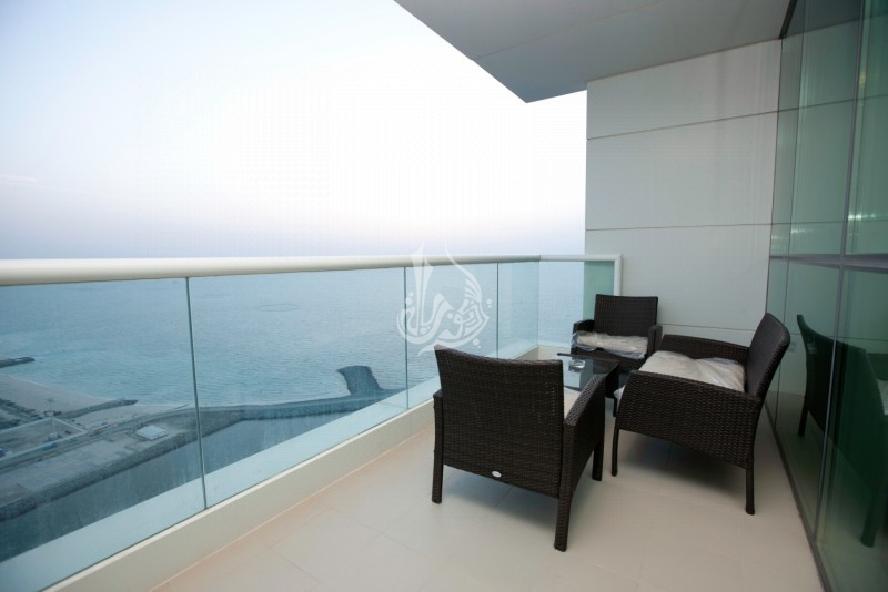 Furnished Sea View 2 BR Apt in Al Bateen Residence