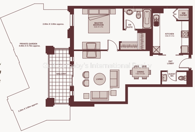 Large 1 Bedroom Garden Apartment Reehan