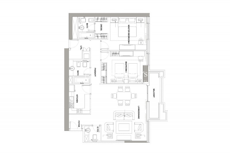 Palm Oceana-Ground Floor-1 Bedroom