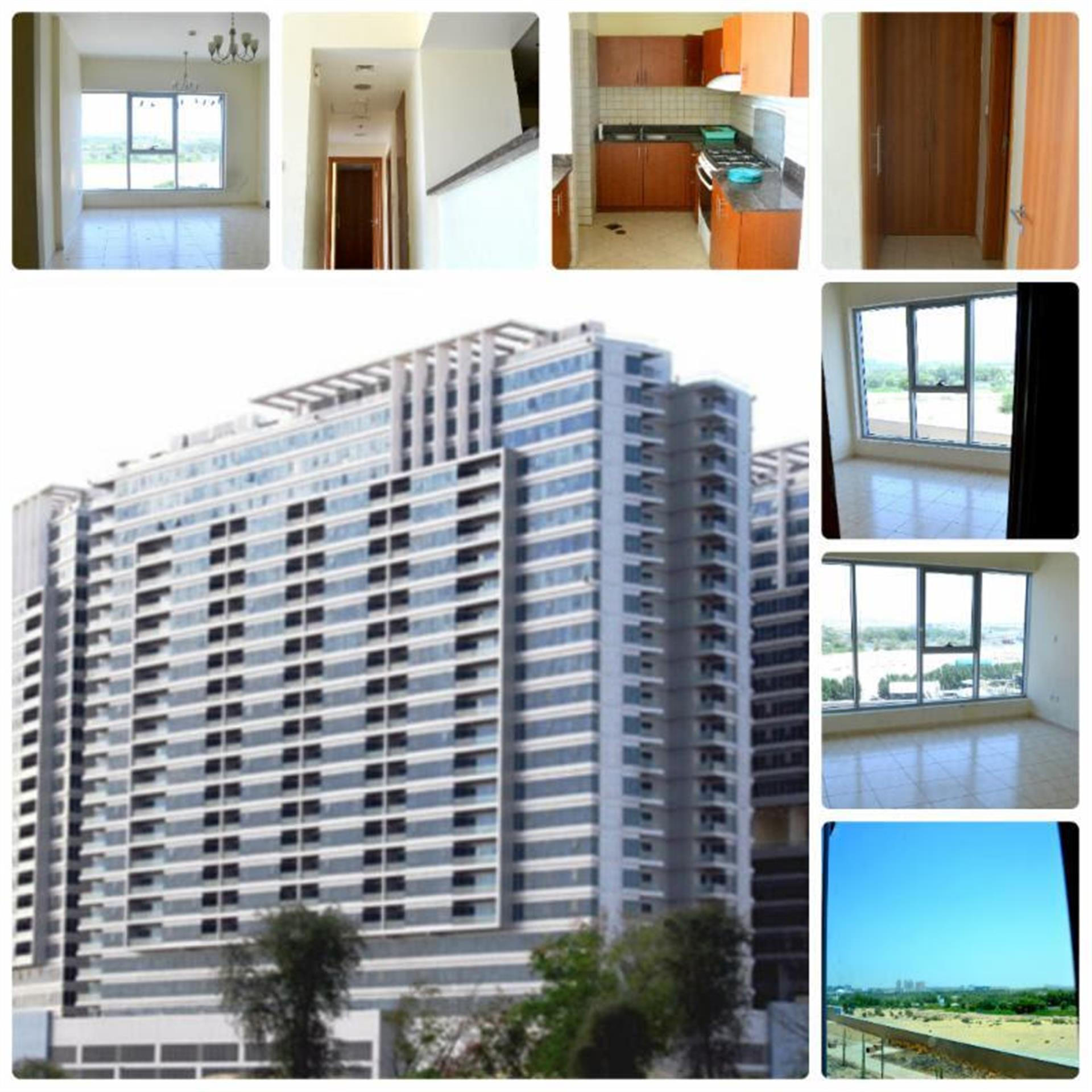 Dubai Land Sky Court Towers Higher Floor 1-Bk Available For Rent Only 53k
