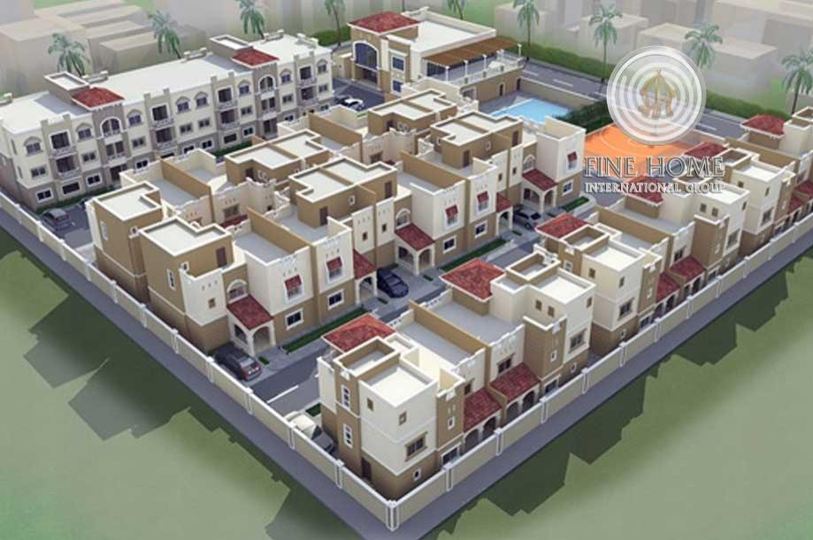 (2) Villas Compound In Khalifa City (Co_70)