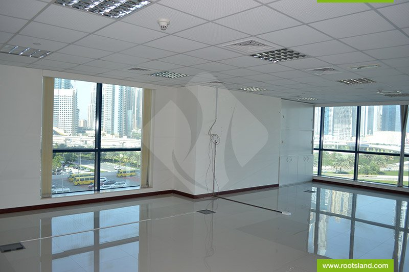 Fitted Office With Lake And Sheikh Zayed Road View